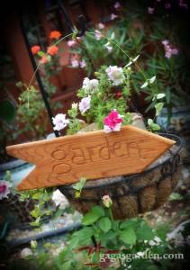 Hand Carved Garden Arrow