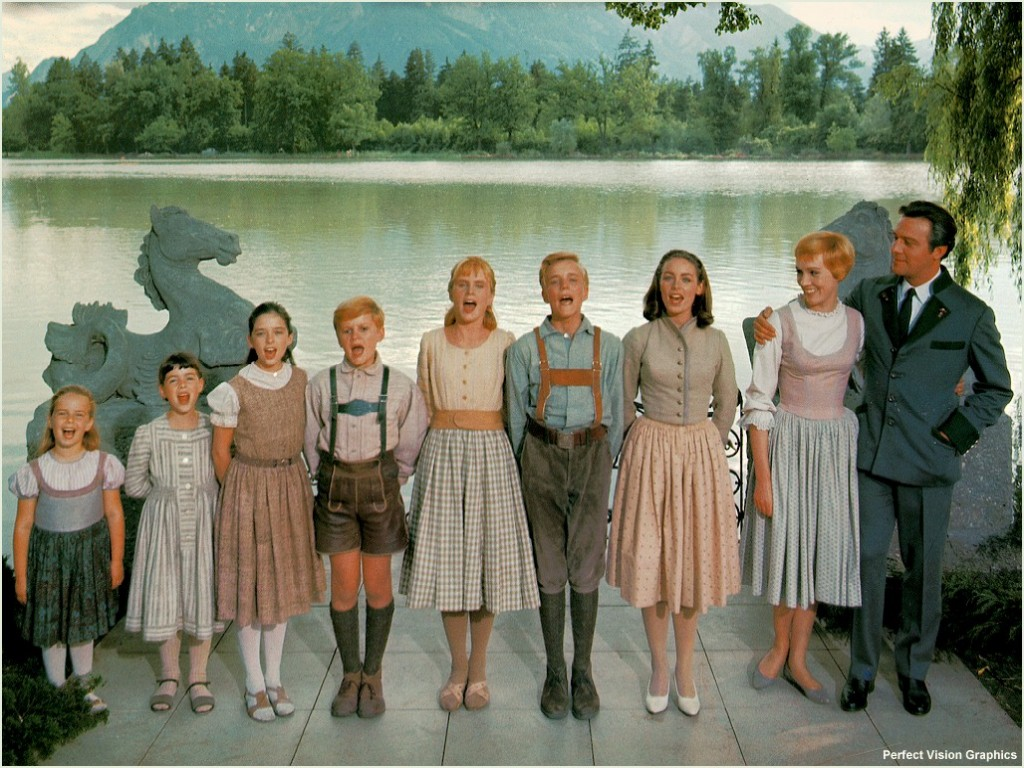 Notice the Feng Shui elements behind the cast of The Sound of Music!