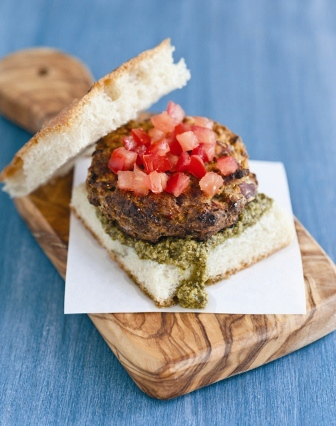Italian Herb Burgers on Focaccia Bread Recipe
