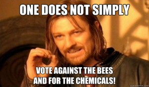 One does not vote against the bees and for chemicals in Austria!