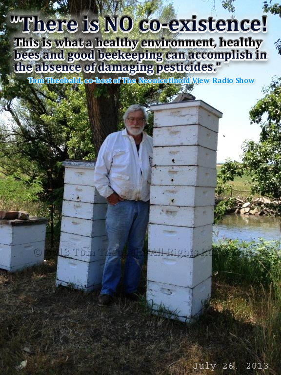 """There is NO co-existence. This is what a healthy environment, healthy bees and good beekeeping can accomplish in the absence of damaging pesticides."" Tom Theobald"