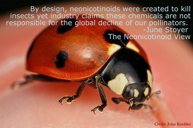 By design, neonicotinoids were created to kill...