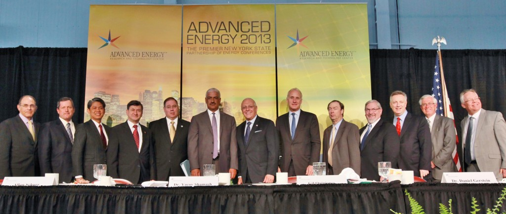 Robert Catell with many of the speakers at Advanced Energy 2013