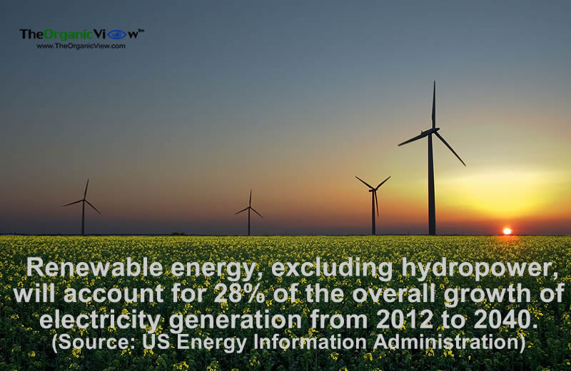 Renewable energy, excluding hydropower